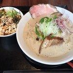 75623137 - 2017.9.28  チャーマヨ丼セット 鶏とろみそば