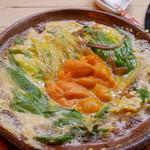 よこ林 - (撮影 20171030)「うに鍋」美味でした。