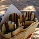75625355 - 完熟バナナホイップクリーム+チョコレートのクレープ