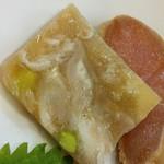 ラーメン哲史 - 豚足と枝豆の煮凝り