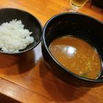 ラーメン哲史 - 芝麻辣つけ麺-追い飯