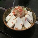 月島名物もんじゃ だるま - 「マーボー豆腐もんじゃ」です。