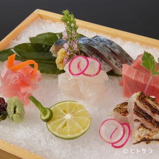 静岡県の美味しい食材はもちろん。全国から厳選された旨味を堪能