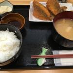 浜めし 海鮮 ふぃっしゅ - アジフライ定食(680円)