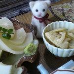 ろばた焼 童子 - 竹の子のお刺身!
