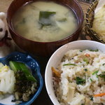 ろばた焼 童子 - 竹の子ご飯