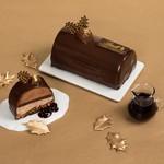 リンツ ショコラ カフェ - 期間限定クリスマスケーキ「ビュッシュ ショコラ マロン」