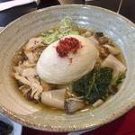 食彩遊膳 まる梅 - 温きのこ泡麩肉帯麺