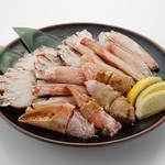板前寿司 - 塩ゆで本ずわい蟹