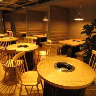 オシャレな焼肉屋☆コンセプトは「カジュアル&リッチな空間」