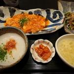 中国菜ろうりん - ランチ(エビチリ)¥1300