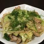 平和園 - 豚の生姜焼き定食炒め