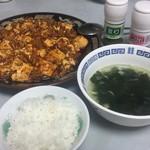 75681817 - 2017年10月。レトルト麻婆豆腐でおうちごはん。