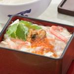 蟹と旨煮帆立のゆば重