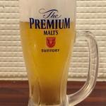 肉バル 炭焼きMEAT - プレミアム モルツ(ビール)