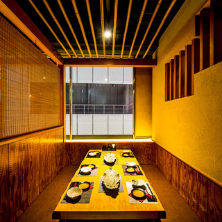 極上の明かりが灯る空間プライベート個室ご用意