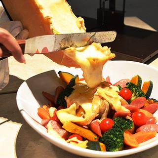 まるでゲリラ豪雨!ソーセージと温野菜のゲリラチーズ