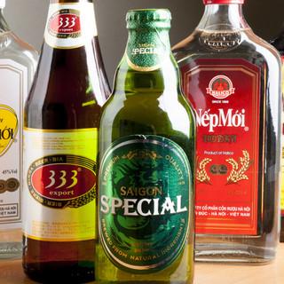 ベトナムジンが愛する本場のビール、ドリンクも!!