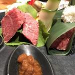 河一屋旅館 - みゆき和牛と信州プレミアム牛の ステーキ
