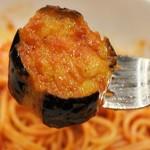 ボーノロッソ - 大きなカットの茄子