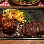 ハンバーグ&ステーキ食堂 KURAUZO - ハラミステーキ&ハンバーグ