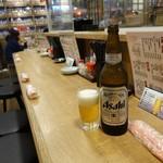 アカマル屋 - アサヒスーパードライ大瓶550円(税抜)