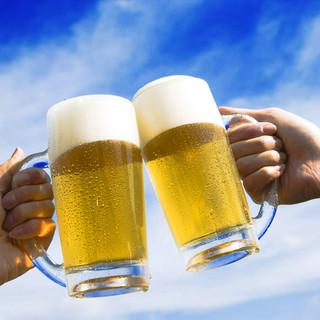 17時~19時はハッピーアワータイム!生ビールが290円♪