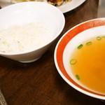 ぎょうざ大学 - ぎょうざ定食(ご飯&卵スープ)