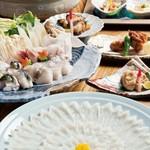 ひらめ亭 - 料理写真:虎河豚コース