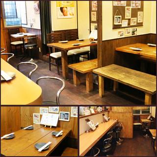 個室・テーブル席・カウンター席・貸切まで様々なシーンに!