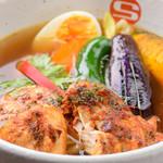 タンドリーチキンと野菜のカレー