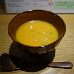 あめこや - つき出し:カボチャの温かいスープ