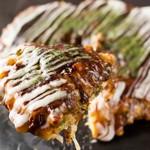 ○匠 - 料理写真:一番人気の【豚イカ入りお好み焼き】 650円