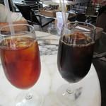 ぶどう酒食堂さくら - アイスティー 500円+Tax & アイスコーヒー 550円+Tax