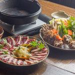 まりも亭 - 河内鴨とフカヒレのすき焼きコース