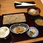 佳肴 あさひ山 - あさひ山 舞茸と牛しぐれ丼蕎麦
