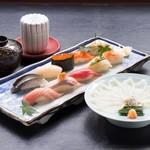 旭鮨総本店 - ふぐ刺身とにぎり鮨