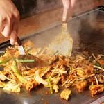 名古屋もつ焼き ひとすじ - 味噌生もつホルモン鉄板焼肉 朝挽き生 鮮度抜群 dinner 牛もつ焼きうどん