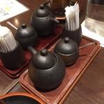 75730794 - テーブルの調味料。