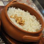 アラビアレストラン ゼノビア - シャクリーヤの下段『バターライス』(1,800円)2017年10月