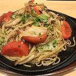 福本屋 - 焼きトマトときのこの白焼きそば 大盛り