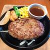 炭火焼ハンバーグカキヤス - 料理写真:デミグラスハンバーグ、ビッグ!