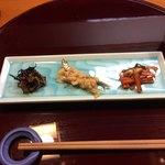 すし茶屋 わび如 - 料理写真:先ずけ・3種