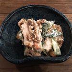 中町食堂 - 季節の青葉とイチジクのクリームチーズ白和え