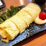 美魚味 - 黄ニラのチーズのだし巻き✩