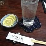 味処 はつくら - 酎ハイ(キンミヤ)