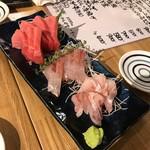 魚河岸食堂 - 小田保 刺身3点盛り