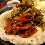 75747366 - 韓国風イカの塩辛&キムチ
