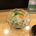 日本酒スローフード とやま方舟 - 白えびの刺身