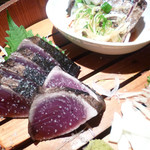 漁師料理 明神丸 - 焼き切り塩・タレ盛り合わせ